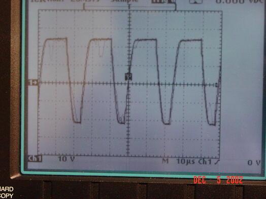 Unacceptable encoder signal with undershoot